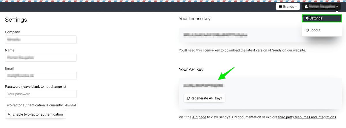 AffiliateWP - Sendy - API Credentials