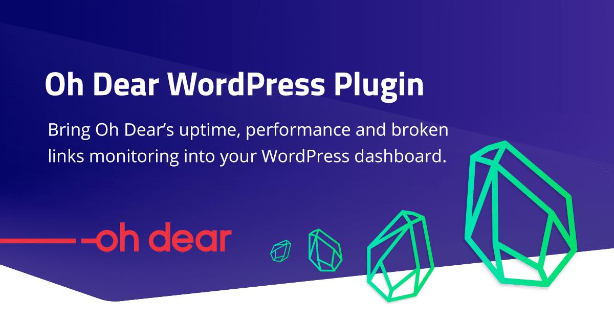 Oh Dear WordPress Plugin released!