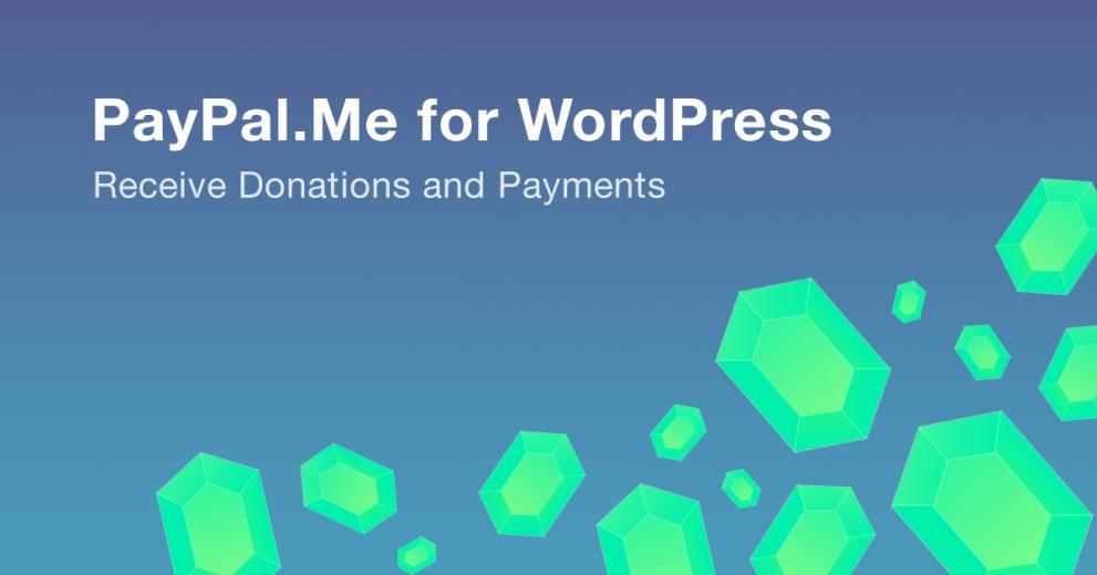PayPal.Me for WordPress Plugin